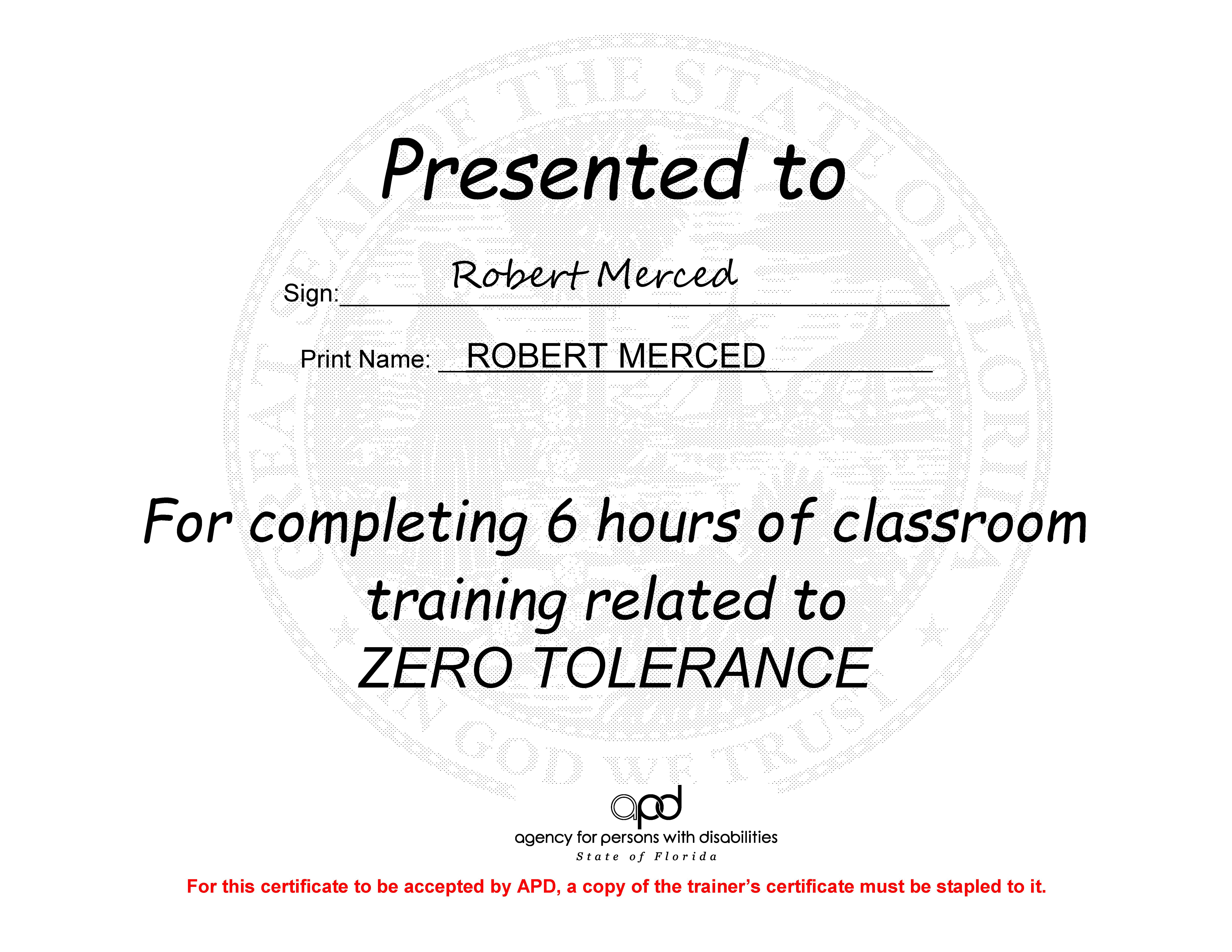 Robert merced where there is no vision the people perish zero tolerance certification xflitez Image collections